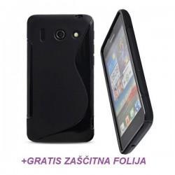 Silikon etui za Huawei Ascend G510 +Folija Gratis ,Črna barva