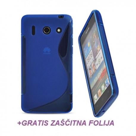 Silikon etui za Huawei Ascend G510 +Folija Gratis ,Modra barva