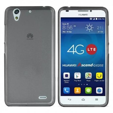 Silikon etui za Huawei Ascend G620S +Folija ekrana Temna barva