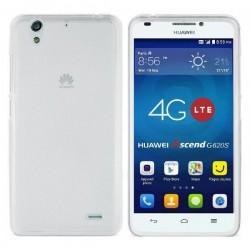 Silikon etui za Huawei Ascend G620S +Folija ekrana Bela Mat barva