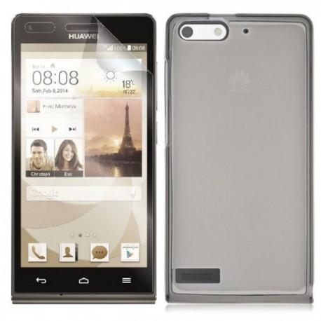 Silikon etui za Huawei Ascend G6 Temna barva+folija ekrana