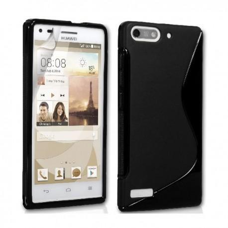 Silikon etui za Huawei Ascend G6 Črna barva+folija ekrana
