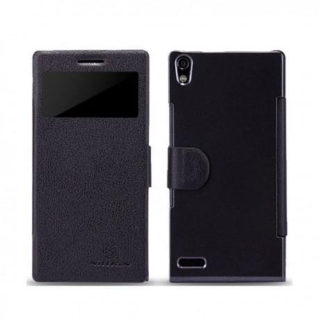 Torbica za Huawei Ascend P6 ,Preklopna Fresh Case,Črna barva