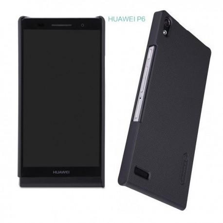 Etui za Huawei Ascend P6 zadnji pokrovček + folija ekrana ,Črna barva