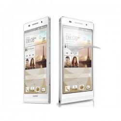 Silikon etui za Huawei Ascend P6 +Folija ekrana ,bela mat barva
