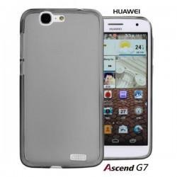 Silikon etui za Huawei Ascend G7 +Folija ekrana Temna barva