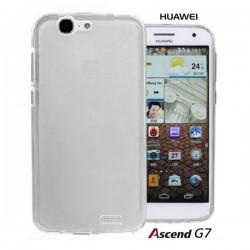 Silikon etui za Huawei Ascend G7 +Folija ekrana Bela Mat barva