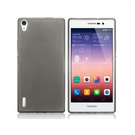 Silikon etui za Huawei Ascend P7 Temna barva+folija ekrana