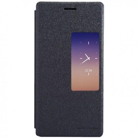 Torbica za Huawei Ascend P7 S-View ,Preklopna Črna barva