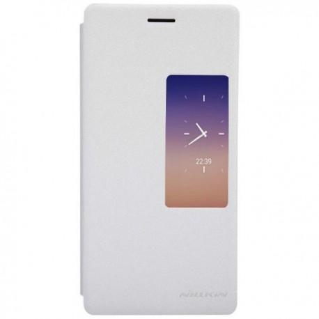 Torbica za Huawei Ascend P7 S-View ,Preklopna Bela barva