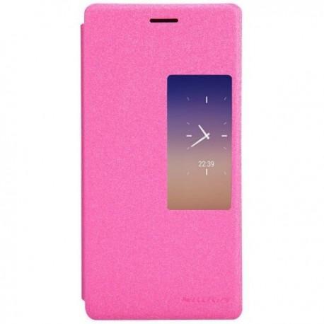 Torbica za Huawei Ascend P7 S-View ,Preklopna Pink barva
