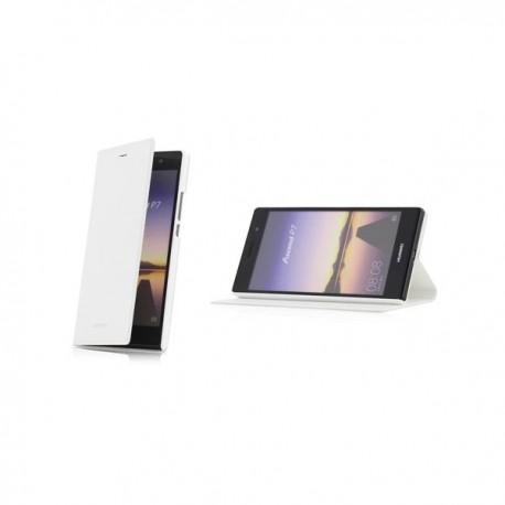 Torbica za Huawei Ascend P7 Preklopna Bela barva Original