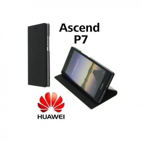 Torbica za Huawei Ascend P7 Preklopna Črna barva Original