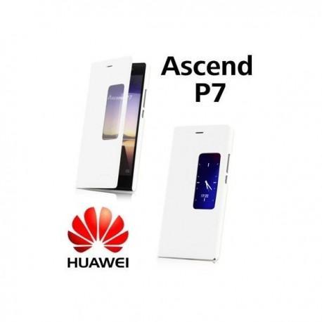 Torbica  za Huawei Ascend P7 S-View Preklopna Bela barva Original