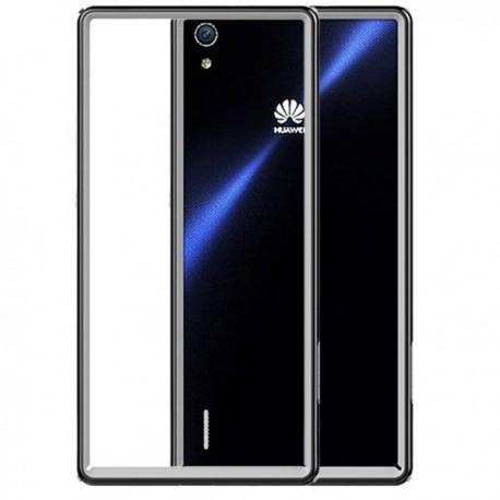 Slim Armor Bumper za Huawei Ascend P7 +Folija ekrana Črna barva