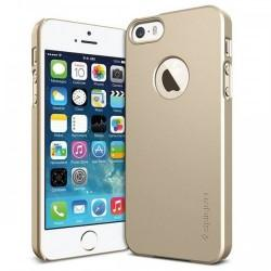 Etui za Apple iPhone 5S/5 Ultra Fit A zadnji pokrovček Spigen Champagne Gold+Folija