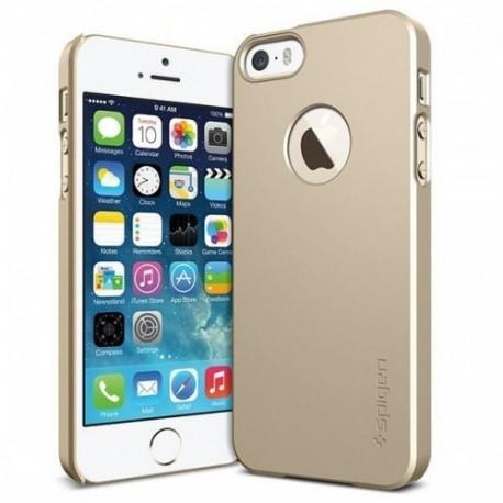 Etui za Apple iPhone 5S/5 Ultra Fit A zadnji pokrovček Spigen Champagne Gold+Folija