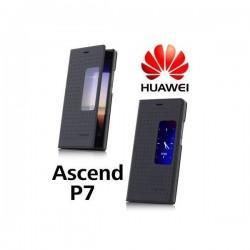 Torbica za Huawei Ascend P7 S-View Preklopna Črna barva Original