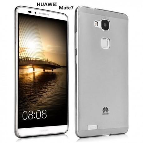 Silikon etui za Huawei Ascend Mate 7 +Folija ekrana Temna barva
