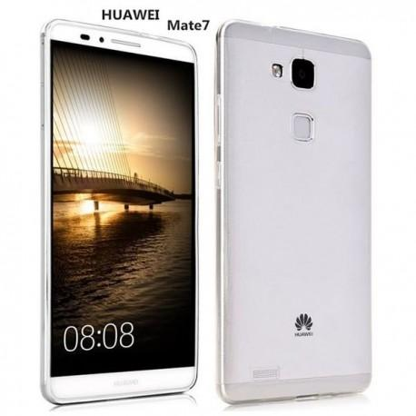 Silikon etui za Huawei Ascend Mate 7 +Folija ekrana Bela mat barva