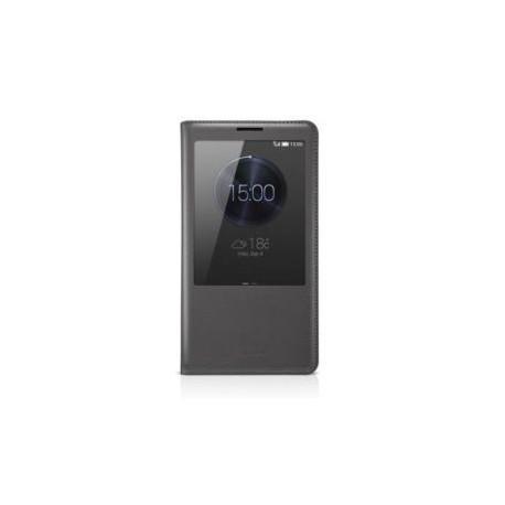 Torbica za Huawei Ascend Mate 7 S-View Preklopna Temno siva barva Original