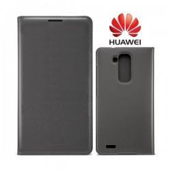 Preklopna Torbica za Huawei Ascend Mate 7 Temno siva barva Original+Folija