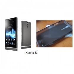Silikon etui za Sony Xperia S,prozorna siva barva+folija ekrana