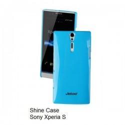 Etui za Sony Xperia S,zadnji pokrovček,modra barva+folija ekrana,Jekod Shine Case