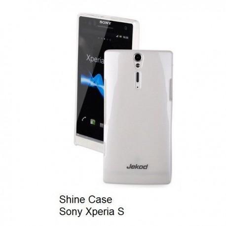 Etui za Sony Xperia S,zadnji pokrovček,bela barva+folija ekrana,Jekod Shine Case