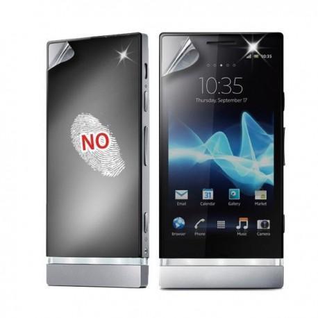 Zaščitna folija ekrana za Sony Xperia P,AntiFinger,Puro