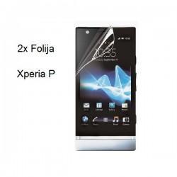 Zaščitna folija ekrana za Sony Xperia P,paket 2 v 1,Trendy