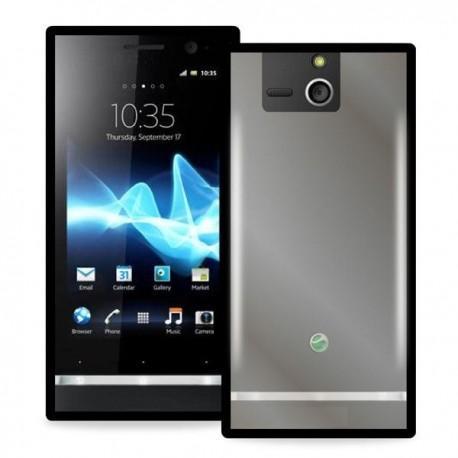 Etui za Sony Xperia U,prozorna in črna barva
