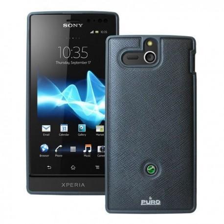 Etui za Sony Xperia U,črna barva,Puro Professional Cover