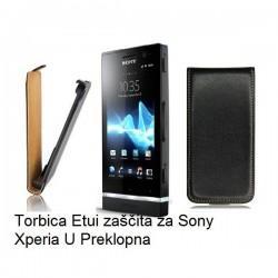 Torbica za Sony Xperia U,preklopna,črna barva
