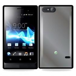 Etui za Sony Xperia Go,prozorna in črna barva