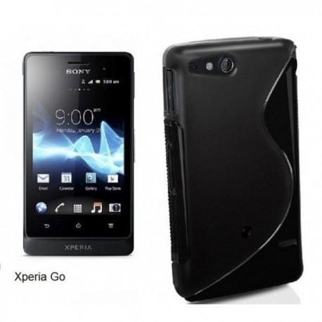 Silikon Etui za Sony Xperia Go,črna barva,motiv S
