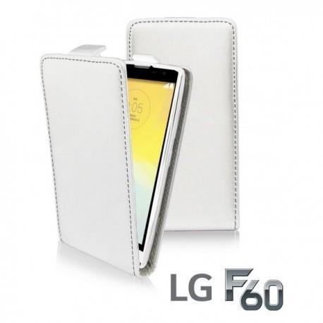 Preklopna Torbica za LG F60 + zaščitna folija ekrana Bela barva