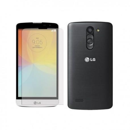Silikon etui za LG L Bello +Folija ekrana Temna barva