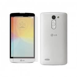Silikon etui za LG L Bello +Folija ekrana Bela mat barva