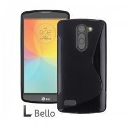 Silikon etui za LG L Bello +Folija ekrana Črna barva