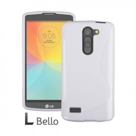 Silikon etui za LG L Bello +Folija ekrana Bela barva