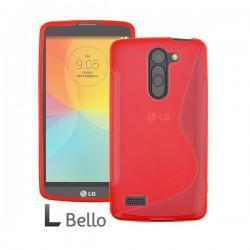 Silikon etui za LG L Bello +Folija ekrana Rdeča barva