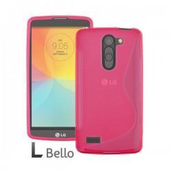 Silikon etui za LG L Bello +Folija ekrana Pink barva