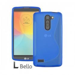 Silikon etui za LG L Bello +Folija ekrana Modra barva