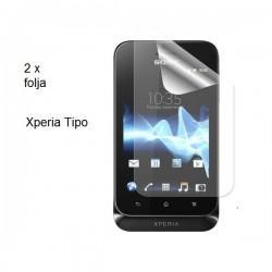 Zaščitna folija ekrana za Sony Xperia Tipo,paket 2 v 1