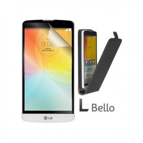 Preklopna Torbica za LG L Bello + Zaščitna folija ekrana ,Črna barva