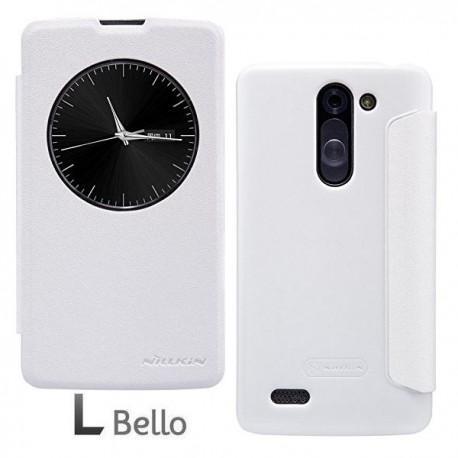 Preklopna Torbica za LG L Bello S-View Bela barva
