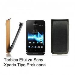 Torbica za Sony Xperia Tipo,preklopna,črna barva