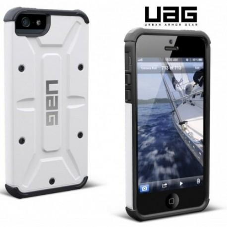 Etui za Apple iPhone 5/5S Urban Armor Gear+Folija ekrana, Bela barva