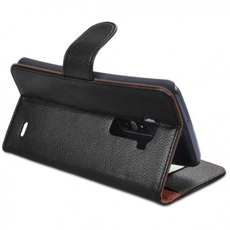 Torbica za LG G Flex Preklopna Črna barva +2x Folija ekrana